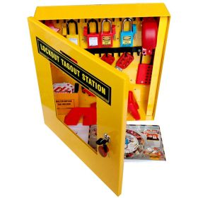 KRM LOTO  -OSHA LOCKOUT TAGOUT ELECTRO - MECHANICAL  MAINTENANCE STATION KIT - 8059
