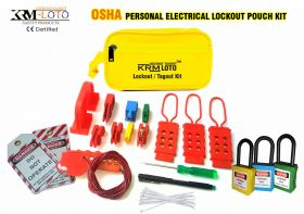 OSHA PERSONAL ELECTRICAL LOCKOUT POUCH KIT WITH OSHA-LOCKS