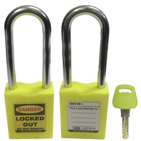 OSHA SAFETY LOCK TAG PADLOCK – METAL – LONG SHACKLE - GREEN