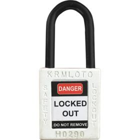 OSHA Safety Lock Tag Padlock - Nylon Shackle with Alike Key
