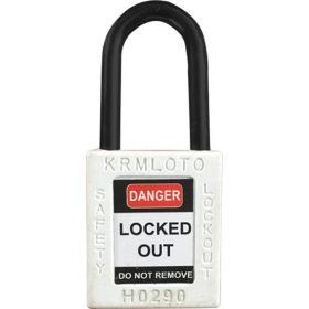 OSHA Safety Lock Tag Padlock - Nylon Shackle with Alike Key
