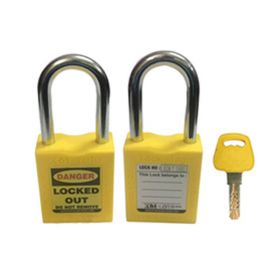 OSHA SAFETY LOCK TAG PADLOCK – METAL SHACKLE-YELLOW