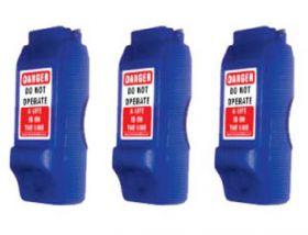 3pcs PIN CIRCUIT BREAKER LOCKOUT - BLUE