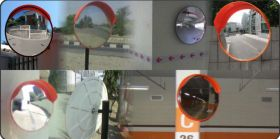 Convex Mirror with MS Hollow Pipe