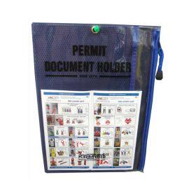 Lockout Permit Document Holder Blue