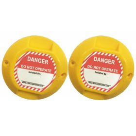 ROUND ABS MARKER YELLOW (SET OF 2)