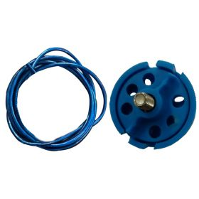 Round Multipurpose Cable Lockout 6H Blue (Without Loop)