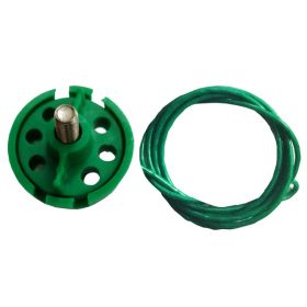 Round Multipurpose Cable Lockout 6H Green (with 2mtr. cable  & Without Loop)
