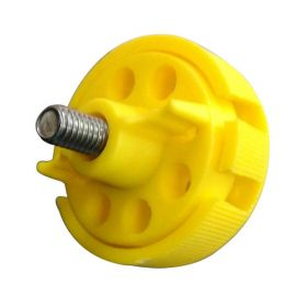 Round Multipurpose Cable Lockout 6 Holes Yellow (Without Cable)