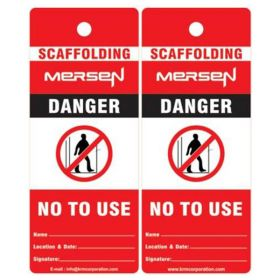 25pcs - DANGER NOT TO USE - CUSTOMIZED SCAFFOLD TAG - KRM LOTO