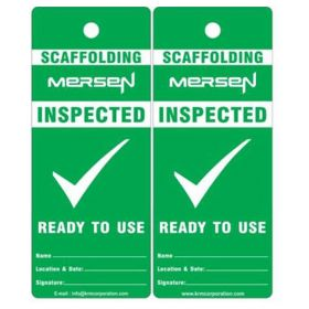 25pcs - INSPECTED CUSTOMIZED SCAFFOLD TAG - KRM LOTO