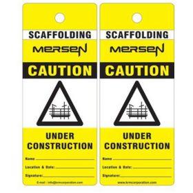 25pcs - CAUTION UNDER CONSTRUCTION -  CUSTOMIZED SCAFFOLD TAG - KRM LOTO