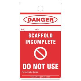 25pcs - KRM LOTO - DANGER - DO NOT USE SCAFFOLD TAG