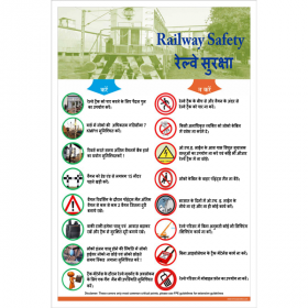 5pcs KRM LOTO - RAILWAY SAFETY POSTER (ACP SHEET) 6ft X 4ft