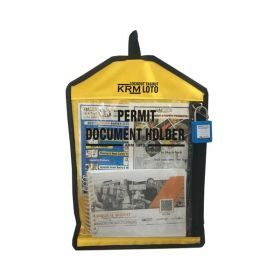 LOCKOUT PERMIT DOCUMENT HOLDER YELLOW WITHOUT MATERIAL-KRM-K-FPTH-YT