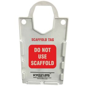 10Pcs KRM LOTO – LARGE SCAFFOLD  TAG HOLDER - DO NOT USE SCAFFOLD