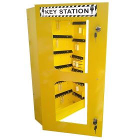 KRM LOTO – LOCKABLE LOCKOUT TAGOUT KEY STATION CLEAR FASCIA 30156 (without material)
