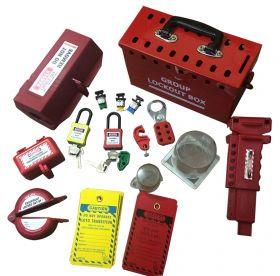KRM LOTO – Lockout Tagout Portable Group Lockout Box Kit