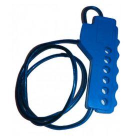 Multipurpose Scissor Cable Lockout Blue