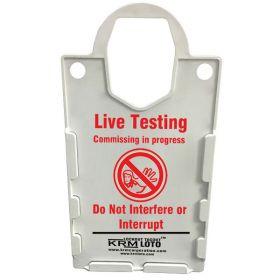 10pcs KRM LOTO – LARGE DISPLAY  TAG HOLDER - LIVE TESTING