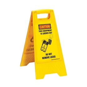 KRM LOTO PORTABLE SAFETY FLOOR STAND(DO NOT REMOVE LOCKS)