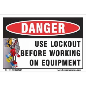 50pcs KRM LOTO LOCKOUT TAGOUT SAFETY LABELS (55mm X 75mm)