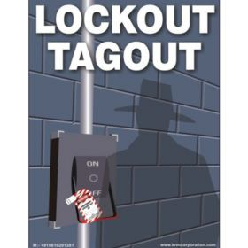 10pcs KRM LOTO LOCKOUT TAGOUT SIGNS - WALL MOUNTED(450 mm x 600 mm)