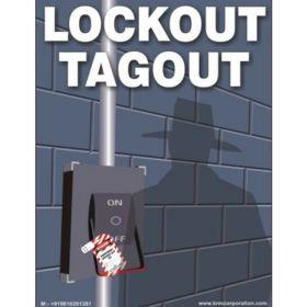50pcs KRM LOTO LOCKOUT TAGOUT SAFETY LABELS(100 mm X 150 mm)