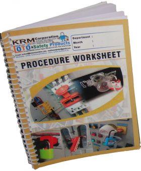 Lockout Tagout Procedure Worksheet in Spiral / Register (Set of 2)