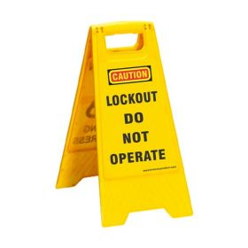KRM LOTO PORTABLE SAFETY FLOOR STAND(DO NOT OPERATE)