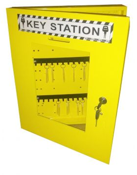 LOCKOUT KEY STATION - YELLOW without material