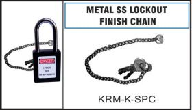 Metal SS finish chain with both side hooks - 9 ""
