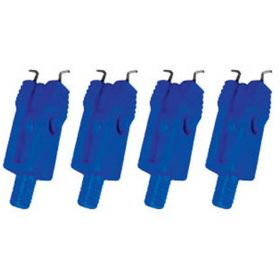 4pcs MINIATURE CIRCUIT BREAKER LOCKOUT MOULDED PIN TYPE - BLUE