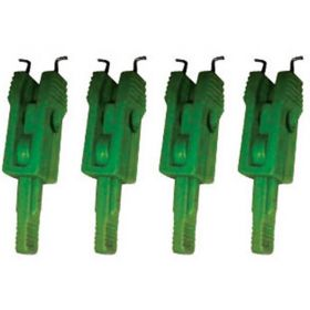 4pcs MINIATURE CIRCUIT BREAKER LOCKOUT MOULDED PIN TYPE - GREEN