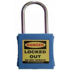 OSHA SAFETY LOCK TAG PADLOCK – WITH STAINLESS STEEL SHACKLE - BLUE