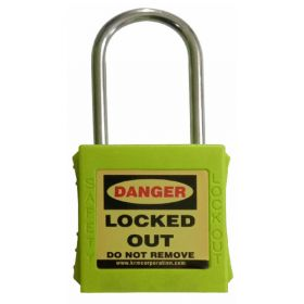 OSHA SAFETY LOCK TAG PADLOCK – WITH STAINLESS STEEL SHACKLE - GREEN
