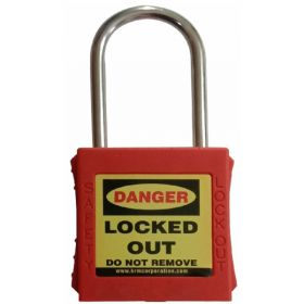 OSHA SAFETY LOCK TAG PADLOCK – WITH STAINLESS STEEL SHACKLE - RED