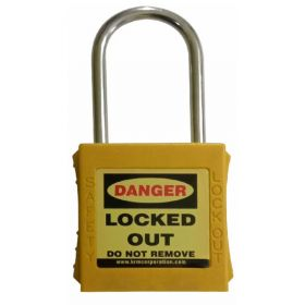 OSHA SAFETY LOCK TAG PADLOCK – WITH STAINLESS STEEL SHACKLE - YELLOW