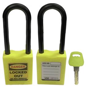 OSHA SAFETY LOCK TAG PADLOCK – NYLON – LONG SHACKLE - GREEN