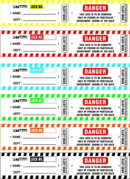 Padlocks self adhesive DANGER labels (Set of 10)