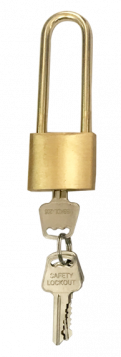 KRM LOTO – BRASS SAFETY PADLOCK – WITH BRASS SHACKLE