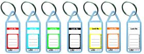Plastic Key ring with matter and numbering (Set of 100 pcs)