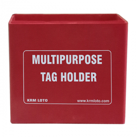 KRM LOTO MULTIPURPOSE TAG HOLDER Red (Without Material)