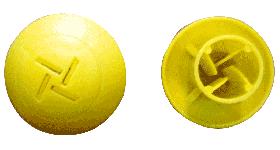 KRM LOTO  - MUSHROOM TYPE REBAR SAFETY CAP (set of 50 pcs) size- 18-25mm