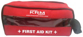 FIRST AID KIT POUCH (TRANSPARENT) - RED