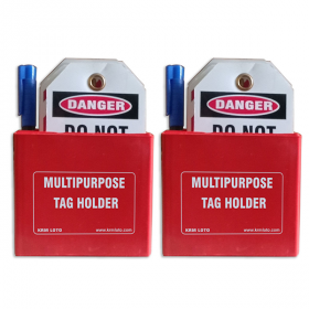 KRM LOTO MULTIPURPOSE TAG HOLDER  Red - 2pcs (With Material)