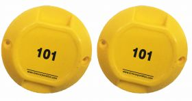 Round ABS Marker Numbering Yellow (Set of 2)