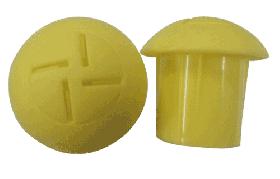 KRM LOTO  - MUSHROOM TYPE REBAR SAFETY CAP (set of 50 pcs) size- 28-36mm