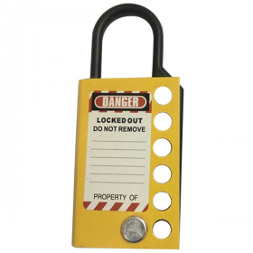Stainless steel hasp -without any chain-Yellow