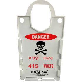10pcs KRM LOTO – LARGE DISPLAY  TAG HOLDER - DANGER 415 VOLTS-BILINGUAL